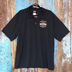 Harley Davidson Black Short Sleeve Polo Shirt